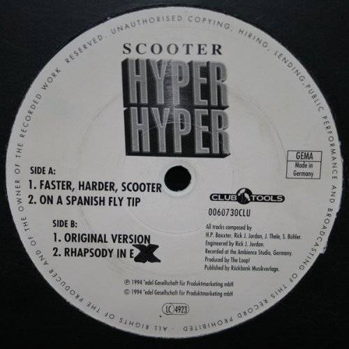Scooter - Hyper Hyper [Vinyl Single] - Preis vom 06.09.2020 04:54:28 h