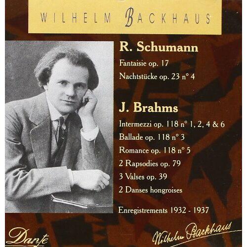 Wilhelm Backhaus - Backhaus-1932-1937 - Preis vom 11.05.2021 04:49:30 h