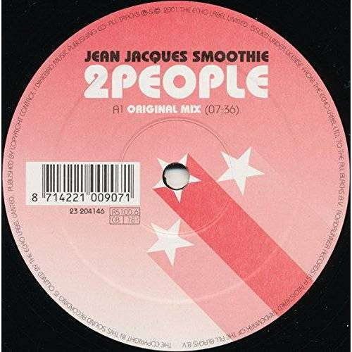 Smoothie Jean Jacques - 2 people (incl. Mirvais & Moloko Mixes) [Vinyl Single] - Preis vom 17.10.2019 05:09:48 h