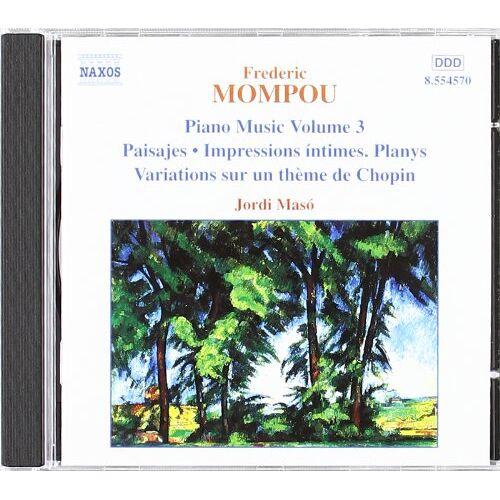 Jordi Masó - Klaviermusik Vol. 3 - Preis vom 14.04.2021 04:53:30 h