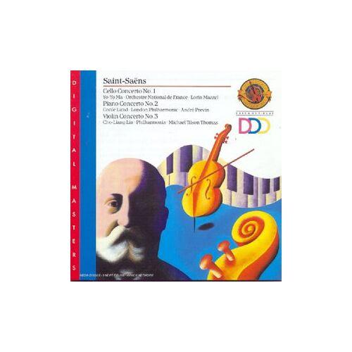 Yo-Yo Ma - Saint-Saens: Cello Concerto 1 / Piano Concerto 2 / Violin Concerto 3 - Preis vom 13.05.2021 04:51:36 h