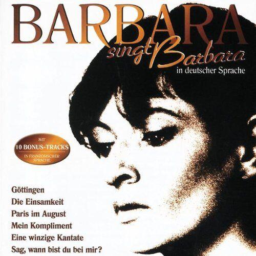 Barbara - Barbara Singt Barbara in Deutscher Sprache - Preis vom 22.04.2021 04:50:21 h