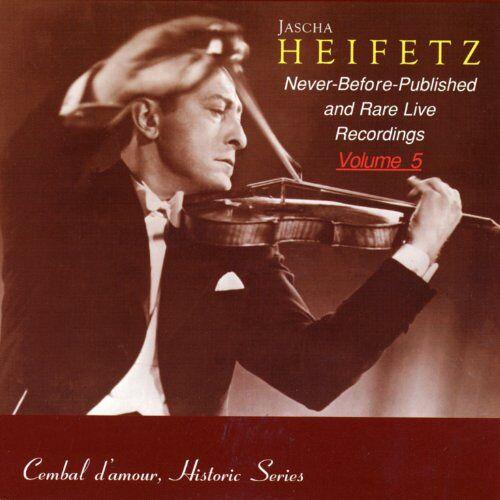 Jascha Heifetz - Jascha Heifetz Vol.5 - Preis vom 10.05.2021 04:48:42 h