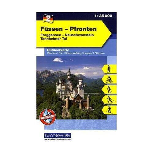 Kümmerly + Frey - Outdoorkarte 02. Füssen - Pfronten 1 : 35.000: Neuschwanstein - Tannheimer Tal: Forggensee - Neuschwanstein - Tannheimer Tal - Preis vom 08.05.2021 04:52:27 h