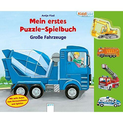 Antje Flad - Große Fahrzeuge: Kiddilight. Mein erstes Puzzle-Spielbuch - Preis vom 03.08.2021 04:50:31 h