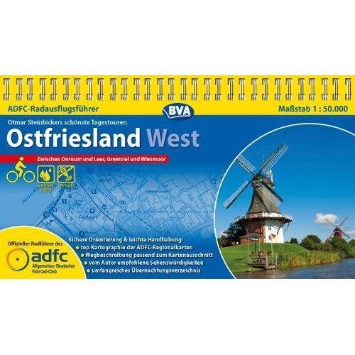 Otmar Steinbicker - ADFC-RadausflugsführerOstfriesland West 1 : 50 000: Die schönsten Tagestouren zwischen Dornum und Leer, Greetsiel und Wiesmoor - Preis vom 16.06.2021 04:47:02 h