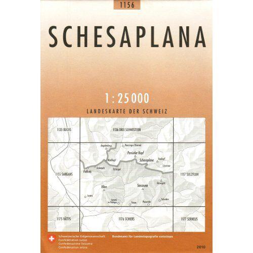 - Swisstopo 1 : 25 000 Schesaplana - Preis vom 30.07.2021 04:46:10 h