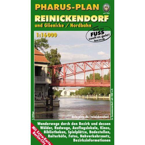 - Pharus-Plan Reinickendorf und Glienicke/Nordbahn: 1:16000 - Preis vom 17.05.2021 04:44:08 h