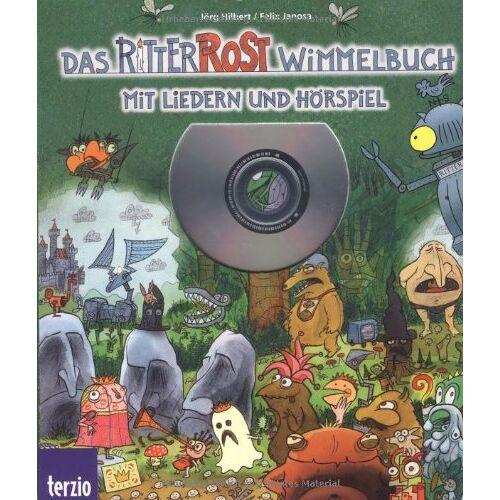 Jörg Hilbert - Ritter Rost: Das Ritter Rost Wimmelbuch: Mit Hörspiel und Liedern auf CD - Preis vom 11.10.2021 04:51:43 h