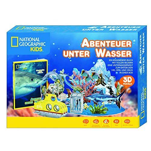 National Geographic Kids - National Geographic KiDS (Sachbuch) - Abenteuer unter Wasser - 3D Puzzle mit Box incl. Buch - Preis vom 16.06.2021 04:47:02 h