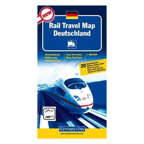 - RailTravel Map Deutschland: Massstab 1:800 000, Eisenbahnkarte, mit 20 Bahnhofspläne (Kümmerly + Frey) - Preis vom 02.08.2021 04:48:42 h