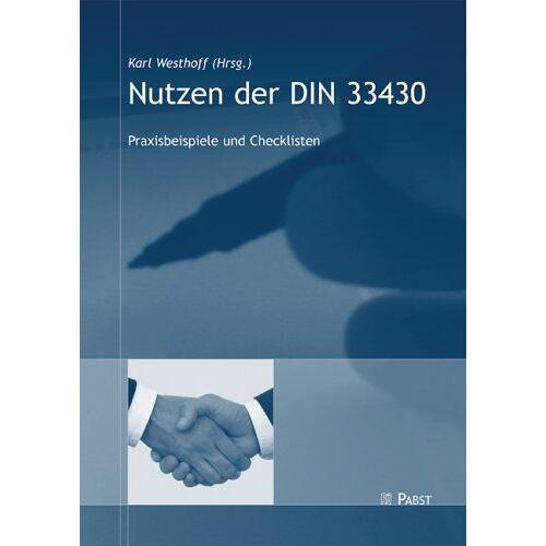 Karl Westhoff - Nutzen der DIN 33430 - Preis vom 16.06.2021 04:47:02 h