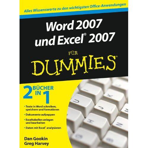 Dan Gookin - Word 2007 und Excel 2007 für Dummies: Sonderausgabe: Sonderausgabe / 2 Bücher in 1 (Fur Dummies) - Preis vom 24.07.2021 04:46:39 h