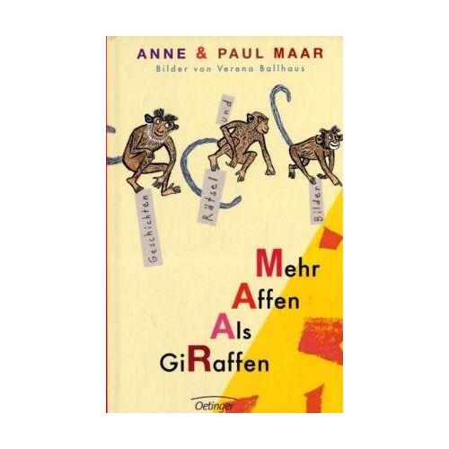 Paul Maar - Mehr Affen als Giraffen. Geschichten, Rätsel und Bilder - Preis vom 16.10.2021 04:56:05 h
