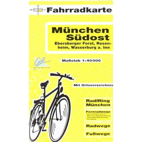 - Fahrradkarte München Südost, Ebersberger Forst, Rosenheim, Haag i.Obb., Wasserburg a. Inn. 1:40000 - Preis vom 20.06.2021 04:47:58 h