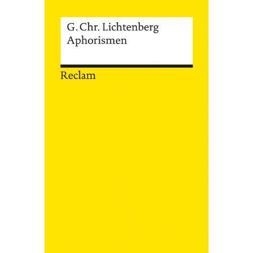 Lichtenberg, Georg Ch - Aphorismen - Preis vom 11.06.2021 04:46:58 h