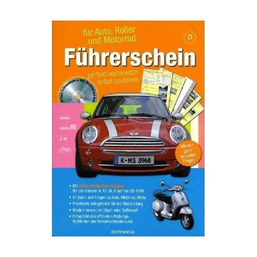 - Führerschein für Auto, Roller und Motorrad, m. CD-ROM - Preis vom 16.06.2021 04:47:02 h