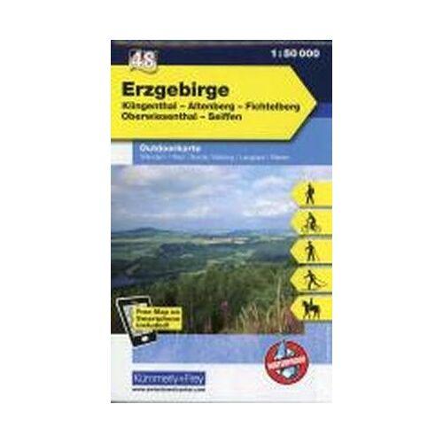 Kümmerly + Frey - K&F Deutschland Outdoorkarte 48 Erzgebirge 1 : 50.000: Klingenthal - Altenberg - Fichtelberg - Oberwiesenthal - Seiffen - Preis vom 22.06.2021 04:48:15 h