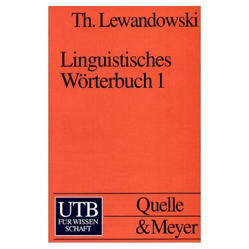 Theodor Lewandowski - Linguistisches Wörterbuch in 3 Bdn.: Band 1 bis 3 - Preis vom 30.07.2021 04:46:10 h