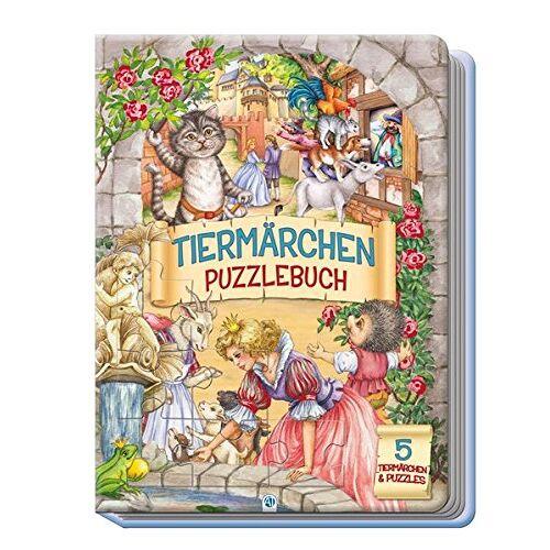 Trötsch Verlag - Puzzlebuch Tiermärchen: 5 Puzzle, 12-teilig - Preis vom 17.10.2021 04:57:31 h