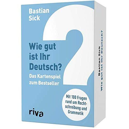 - Wie gut ist Ihr Deutsch? - Das Kartenspiel zum Bestseller (Spiel) - Preis vom 21.06.2021 04:48:19 h
