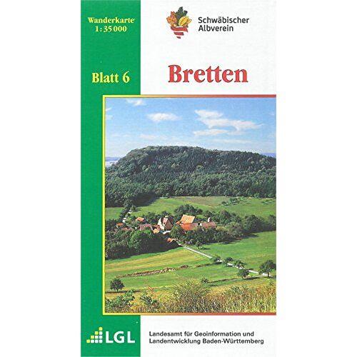 Schwäbischer Albverein e.V. - Bretten: Wanderkarte 1:35.000 (Karte des Schwäbischen Albvereins, Band 6) - Preis vom 18.05.2021 04:45:01 h