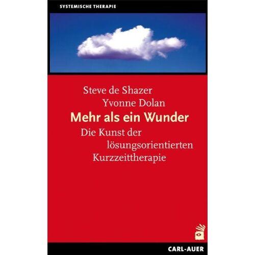 Shazer, Steve de - Mehr als ein Wunder: Lösungsfokussierte Kurztherapie heute - Preis vom 16.06.2021 04:47:02 h