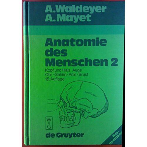 A. Waldeyer, A. Mayet - Anatomie des Menschen 2. Kopf und Hals - Auge - Ohr - Gehirn - Arm - Brust. - Preis vom 09.06.2021 04:47:15 h