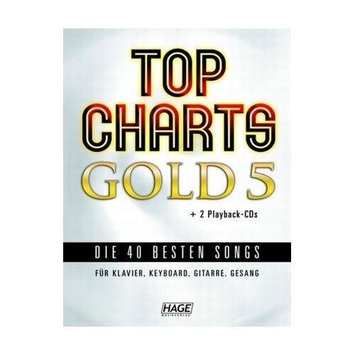 Helmut Hage - Top Charts Gold 5 mit 2 Playback CDs: Das Spiel- und Singbuch für Klavier, Keyboard, Gitarre oder Gesang - Preis vom 14.06.2021 04:47:09 h