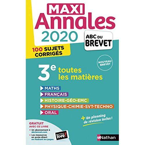 Collectif - Maxi Annales 3e : Avec 100 sujets corrigés - Preis vom 12.06.2021 04:48:00 h