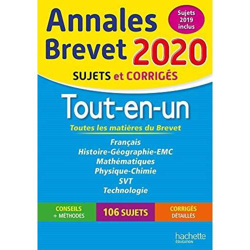 Collectif - Tout-en-un Brevet : Sujets et corrigés - Preis vom 12.06.2021 04:48:00 h