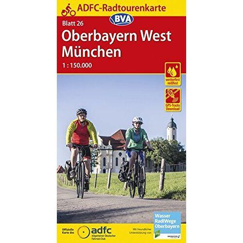 Allgemeiner Deutscher Fahrrad-Club e.V. (ADFC) - ADFC-Radtourenkarte 26 Oberbayern West / München 1:150.000, reiß- und wetterfest, GPS-Tracks Download (ADFC-Radtourenkarte 1:150000) - Preis vom 22.10.2021 04:53:19 h