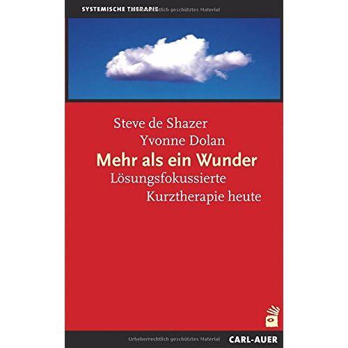 Shazer, Steve de - Mehr als ein Wunder: Die Kunst der lösungsorientierten Kurzzeittherapie - Preis vom 23.07.2021 04:48:01 h