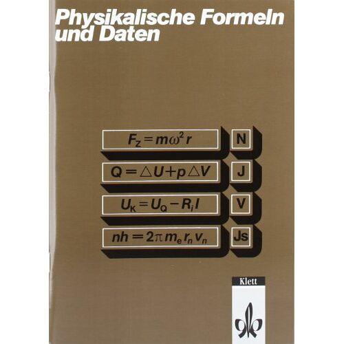 Tilo Fischer - Physikalische Formeln und Daten - Preis vom 18.06.2021 04:47:54 h