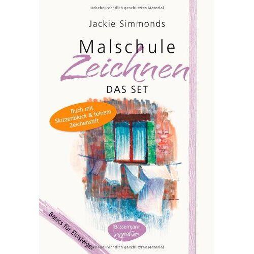 Jackie Simmonds - Malschule Zeichnen-Set: Basics für Einsteiger. Buch mit Skizzenblock und feinem Zeichenstift - Preis vom 20.09.2021 04:52:36 h