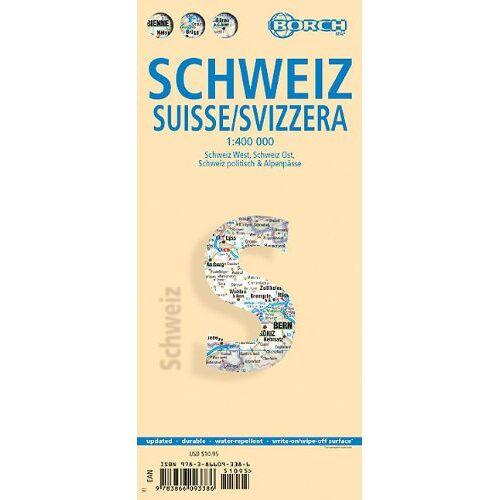 Collectif - Schweiz 1 : 400 000: Schweiz-West, Schweiz-Ost, Schweiz politisch & Alpenpässe, Europa Zeitzonen - Preis vom 19.06.2021 04:48:54 h