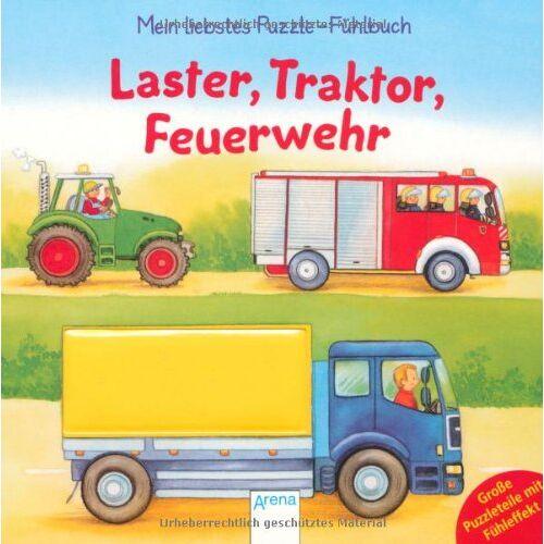 Florian Schmid - Laster, Traktor, Feuerwehr: Mein liebstes Puzzle-Fühlbuch - Preis vom 19.06.2021 04:48:54 h