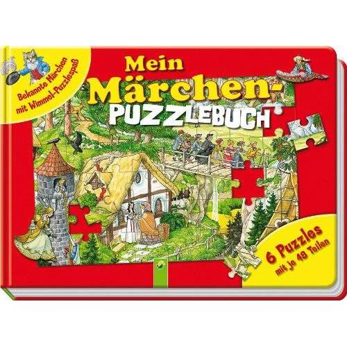 Anne Suess - Mein Märchen-Puzzlebuch - Bekannte Märchen mit Wimmel-Puzzlespaß: 6 Puzzles mit je 48 Teilen - Preis vom 17.10.2021 04:57:31 h