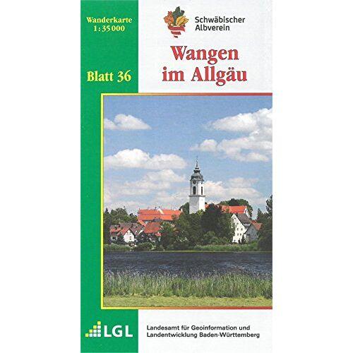 Schwäbischer Albverein e.V. - Wangen im Allgäu: Wanderkarte 1:35.000 (Karte des Schwäbischen Albvereins, Band 36) - Preis vom 18.05.2021 04:45:01 h