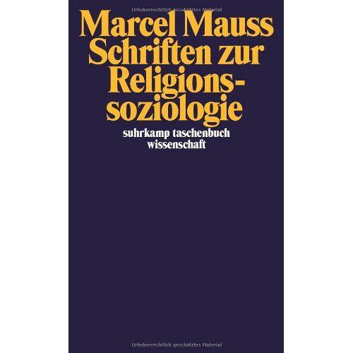 Marcel Mauss - Schriften zur Religionssoziologie (suhrkamp taschenbuch wissenschaft) - Preis vom 30.07.2021 04:46:10 h