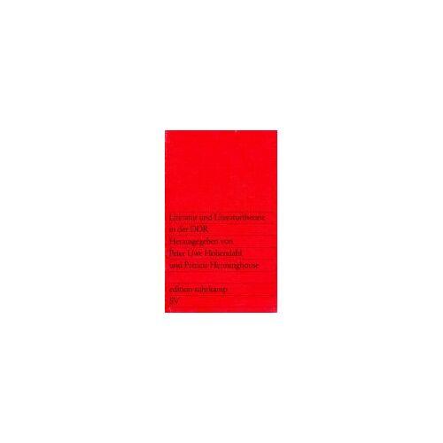 - Literatur und Literaturtheorie in der DDR. - Preis vom 24.07.2021 04:46:39 h