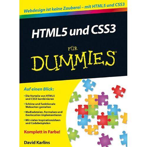 David Karlins - HTML5 und CSS3 für Dummies - Preis vom 22.06.2021 04:48:15 h