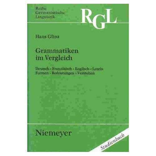 Hans Glinz - Grammatiken im Vergleich - Preis vom 16.06.2021 04:47:02 h