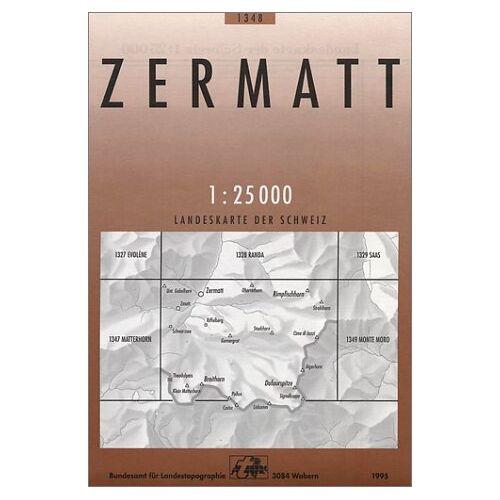 Bundesamt - Swisstopo 1 : 25 000 Zermatt (Landeskarte Der Schweiz) - Preis vom 15.06.2021 04:47:52 h