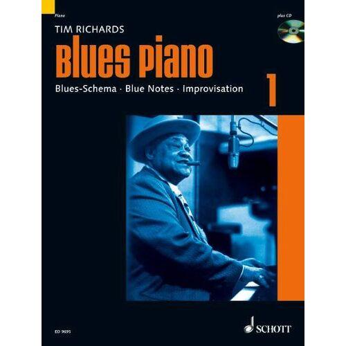 Tim Richards - Blues Piano: Blues-Schema - Blue Notes - Improvisation. Band 1. Klavier. Ausgabe mit CD. - Preis vom 19.06.2021 04:48:54 h