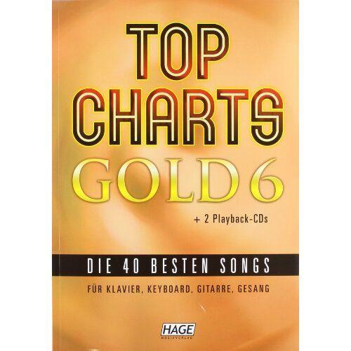 Helmut Hage - Top Charts Gold 6 mit 2 Playback CDs: Das Spiel- und Singbuch für Klavier, Keyboard, Gitarre oder Gesang - Preis vom 14.06.2021 04:47:09 h