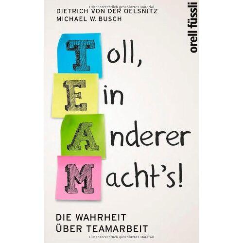 Oelsnitz, Dietrich von der - Team: Toll ein anderer macht's!: Die Wahrheit über Teamarbeit - Preis vom 22.06.2021 04:48:15 h