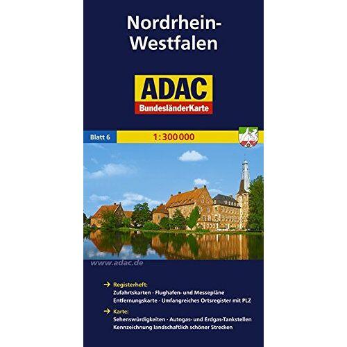 - ADAC Bundesländerkarte Nordrhein-Westfalen 1:300.000 (ADAC BundesländerKarten Deutschland) - Preis vom 02.08.2021 04:48:42 h