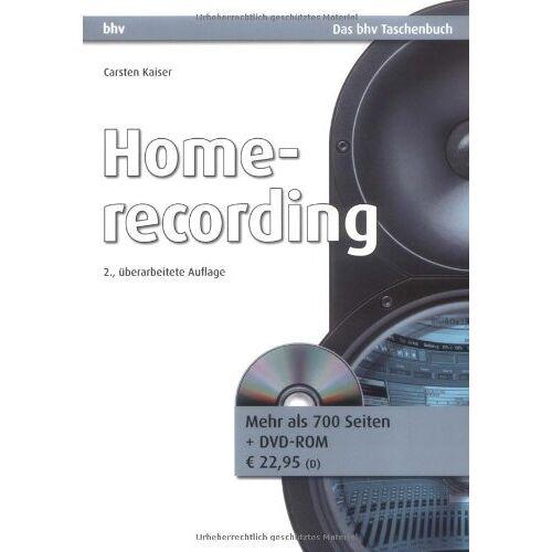 Kaiser Homerecording (bhv Taschenbuch) - Preis vom 17.06.2021 04:48:08 h