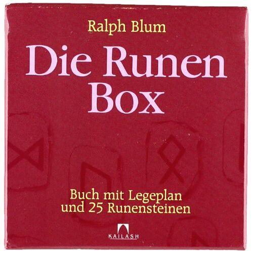 Ralph Blum - Die Runen-Box: Buch mit Legeplan und 25 Runensteinen: Buch mit 25 Runensteinen und Legeplan - Preis vom 16.10.2021 04:56:05 h